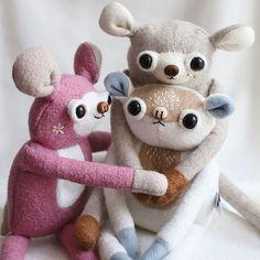 "MUTA toys on Instagram: ""Tuliluli hugigugi"" Hello Kitty, Creatures, Teddy Bear, Toys, Character, Instagram, Art Dolls, Toy, Games"