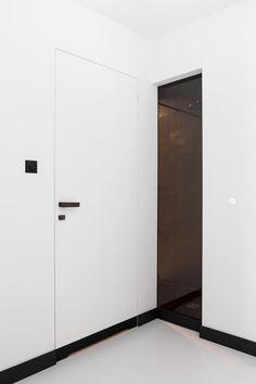 Rahmenlose Tür-Einbau Konzept-moderne Wohnung-Kasia Orwat                                                                                                                                                      Mehr