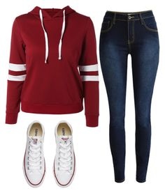 """School outfit"" by madihahnas ❤ liked on Polyvore featuring Converse"