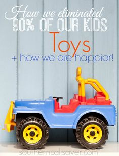 Find out how we eliminated toys and became happier!