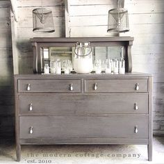 Painted in General Finishes Milk Paint Driftwood- for kitchen cabinets Refurbished Furniture, Furniture Finishes, Furniture, Furniture Rehab, Furniture Projects, Diy Furniture, Furniture Inspiration, Redo Furniture, Refinishing Furniture