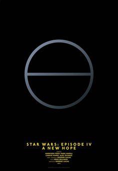 Ultra-minimalist movie posters based on simple lines