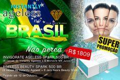 INSTANTLY AGELESS no BRASIL! Não percam essa promoção de adquirir o Instantly Ageless em dois pacotes que existem no Brasil somente por R$1809: - INVIGORATE AGELESS SPARK 500 BR onde vem: 6 caixas Instantly Ageless™ 5 Monavie MX Juice (1caixa/12 tetrapak) 25 pontos de viagem  $100 em bônus direto para você;  - AGELESS BEAUTY SPARK 500 BR onde vem: 8 potes Naära Beauty Drink 9 caixas Instantly Ageless™ 25 pontos de viagem  $100 em bônus direto para você.
