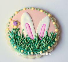 Easter Bunny Ears Cookie