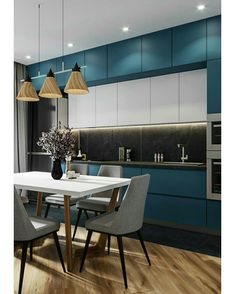 11 Amazing Kitchen Design Trends In 2019 Luxury Kitchen Design, Best Kitchen Designs, Interior Design Kitchen, Diy Interior, Küchen Design, Deco Design, Design Trends, Design Ideas, Kitchen Cabinet Design