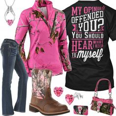 Hear What I Keep To Myself Pink Camo Purse & Wallet Outfit – Real Country Ladies . Country Style Outfits, Country Wear, Country Girl Style, Country Fashion, Country Shirts, My Style, Country Girl Clothes, Country Life, Country Boots