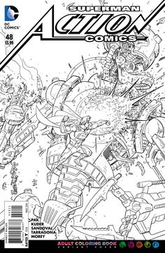 DC Comics Adult Coloring Book Variants Revealed | Comicbook.com