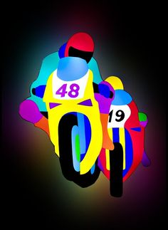 Motociclisti - Marco Lodola - Available on Kooness.com