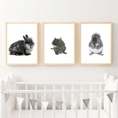 Nursery Prints Set Of 3 Prints Woodland Animals Set Kids Room Wall Art, Nursery Wall Art, Nursery Bible Verses, Woodland Animals, Nursery Prints, Printable Art, Wall Decor, Home Decor, Forest Animals