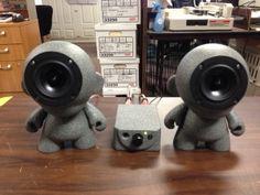 Cool Munny Speakers we made.  #munny #diy #sound