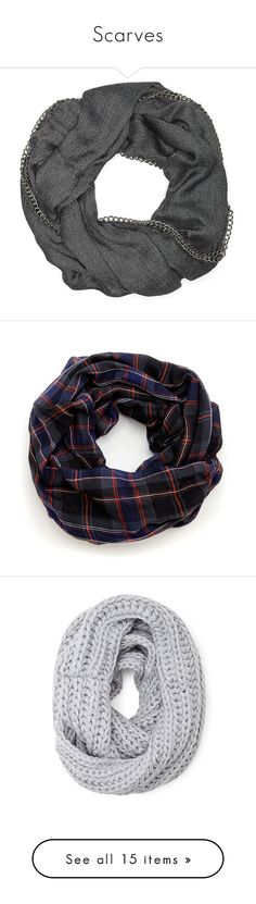 """""""Scarves"""" by classycathleen ❤ liked on Polyvore featuring accessories, scarves, round scarves, circle scarves, tube scarf, tube scarves, infinity scarf, bufandas, black combo and tartan shawl"""