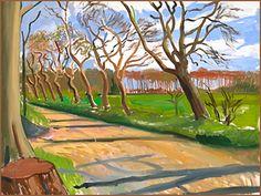 David Hockney - Walnut Trees, 2006 Oil on canvas 36in x 48in