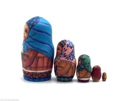 """Russian nesting doll (stacking doll) or Matryoshka doll is a set of dolls decreasing in sizes placed one inside another. The word """"mah-tr-o-sh-kah"""" is related to the old Russian word mat, meaning """"mother"""". 