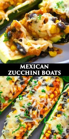 Tasty Vegetarian Recipes, Healthy Recipes, Vegetarian Mexican Food, Vegetarian Dish, Amazing Food Videos, Cookout Side Dishes, Mexican Zucchini, Zucchini Boats, Share Photos