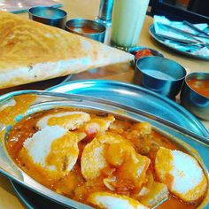 So I couldn't board the early morning train even when I reached an hour early. Some coordination claw! Now ended up to fill my South Indian appetite ;) Having masala dosa mini idlis dipped in sambhar and bengaluru styled badam milk! Looks very yummy!