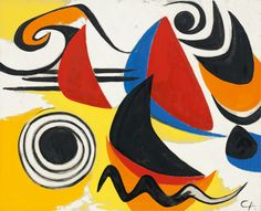 Calder - Boomerangs and Snake, c. 1950 Oil on canvas Calder Foundation, NY A02961