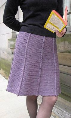 Sidewinder by Susan Dittrich - a free knitted skirt pattern - for XS to - this pattern is available for free. Crochet Skirts, Knit Skirt, Knit Dress, Knit Crochet, Crochet Pattern, Crochet Baby, Dress Skirt, Knitting Stitches, Knitting Patterns Free