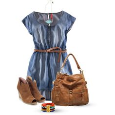 A fashion look from March 2013 featuring H&M dresses, Monsoon boots and Chocolat Blu shoulder bags. Browse and shop related looks.