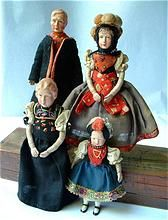 GERMAN Dollhouse DOLLS Composition All ORIGINAL Complete Outfits c.1930's!
