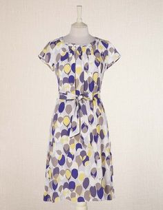 Boden online. Spring tea dress. Maybe too casual. Can't tell the material online. It's got some purple!