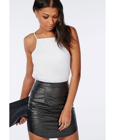 High Neck Cami Top White - Tops - Cami Tops - Missguided | Ireland