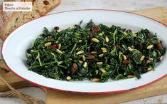 Espinacas a la catalana, la receta más sencilla para una cena saludable Vegetable Side Dishes, Seaweed Salad, Spinach, Main Dishes, Salads, Favorite Recipes, Healthy Recipes, Vegetables, Cooking
