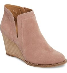 bf214d830de Bella Vita Kalista Wide width booties with a sturdy stacked heel and a peep  toe