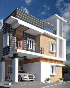 House Outside Design, House Gate Design, Bungalow House Design, House Front Design, Small House Design, Modern Bungalow Exterior, Modern House Facades, Modern Exterior House Designs, Modern House Design