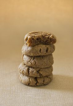Healthy Peanut Butter Cookies. Vegan & gluten free. Luckily, peanut butter cookies can actually be good for you- refined sugar free, gluten free and vegan.