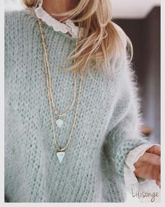 Trendy Ideas For Knitting Clothes Fashion Knitwear Knitwear Fashion, Knit Fashion, Womens Fashion, Mode Outfits, Fashion Outfits, Baby Outfits, Fashion Clothes, Fashion Tips, Winter Mode