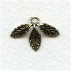 Three Leaves with a Loop Oxidized Brass Third, Brass, Leaves, Brooch, Jewelry, Jewellery Making, Jewelery, Brooches, Jewlery