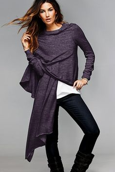 Cashmere wrap.  Oh, you look warm and toasty.  I think this one is from Victoria's Secret.