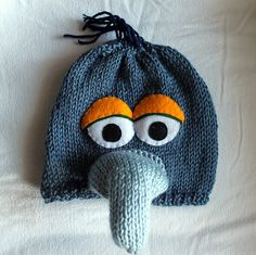 knitted muppet hats! Too cute! By Annie H. Pilon aka wattlebird