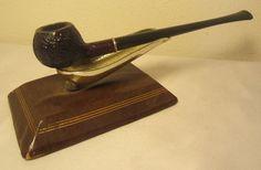 Vintage Mascot Sandblast Churchwarden Apple  Briar Estate Tobacco Smoking Pipe