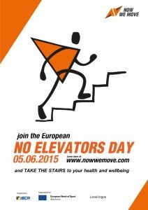 As sedentary lifestyle continues to emerge as one of the most dangerous habits of modern society, it has become clear that the way we spend our days needs a change - a new active way of living. To support and promote this change, we initiate a new European initiative - No Elevators Day.