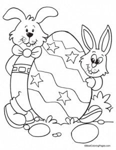 Vintage Free Easter Bunny Coloring Pages 95 easter bunny coloring page