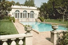 Where the Stars Live: a look at the Robinson estate and gardens, one of the first homes built in Beverly Hills, and now open for public tours. First Home, Beverly Hills, Building A House, Virginia, Sweet Home, Spa, Gardens, Saunas, Tours