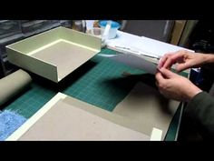 Clamshell Box - Part 2 - Attaching Fabric - YouTube