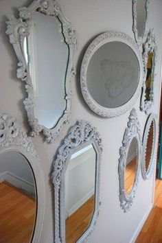 Mirrors, mirrors and more mirrors.