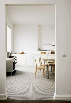 white kitchen by the style files