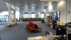 Vestíbulo de la Robertson Trust Library (Scotland) #biblioteca #vestíbulo