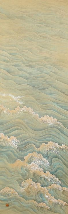 Painting of Waves by Takata Kiseki