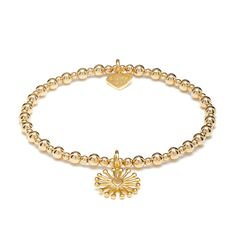 ANNIE HAAK is now presenting the brand new 'Sunrise' charm on the classic 'Mini Orchid' bracelet. Wear this distinctive design as a statement piece, or let it gleam sophistication in your ANNIE HAAK bracelet stack. Stackable Bracelets, Bangle Bracelets, Bangles, Classic Mini, Bracelet Sizes, Gold Beads, Heart Charm, Orchid, Annie