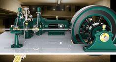 Valve steam model engine.