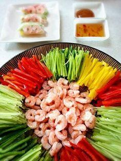 월남쌈 Vietnamese rice wraps