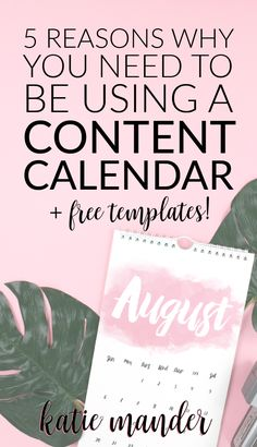 5 reasons why you need to be using a content calendar (editorial calendar) to plan and schedule your blog content. Download a free workbook with content calendar templates!