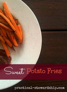 Baked Sweet Potato Fries, G-F, V #GlutenFree #DairyFree