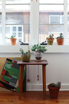 "Sneak Peek: Jessie Webster. ""I am certainly not known for my green thumb, but slowly I've been growing my plant collection. Succulents are about as unfussy as they come, which is why we get along."" #sneakpeek"