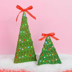 29 Amazing Cardboard Christmas Tree Images Cardboard Christmas