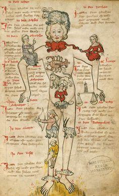 Bayerische Staatsbibliothek, Cgm 32, f.1. Kalender und Praktika auf die Jahre 1368 - 1405.